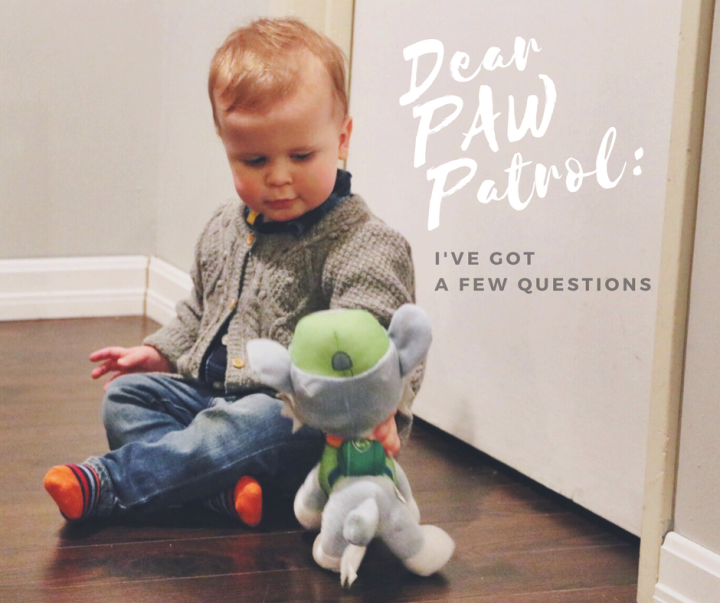 Dear PAW Patrol: I've Got a Few Questions